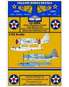 32-006 USN Vought OS2U-1/2 Kingfisher USS Texas, USS Maryland, Cape May