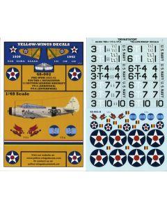 48-002 USN TBD-1 Devastator UPDATED Section Leaders VT-3 & VT-6