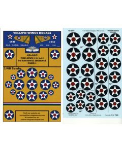 48-005 U.S. National Insignia In Various Sizes 1919-42