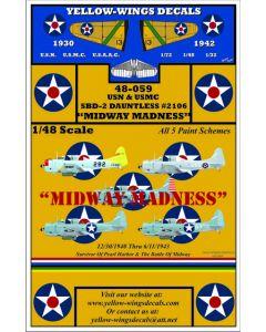 "48-059 USN & USMC SBD-2 Dauntless #2106 ""MIDWAY MADNESS"""