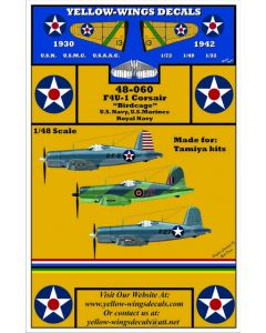 "48-060 Vought USN, USMC & Royal Navy F4U-1 ""Birdcage"" Corsair"