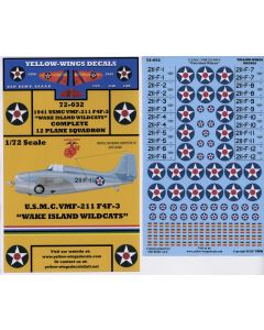 "72-032 USMC F4F-3 VMF-211 ""Wake Island Wildcats"""
