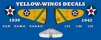 Yellow Wings Decals