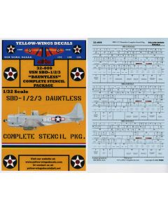 32-009 Complete SBD-1/2/3 Dauntless Stencil Package