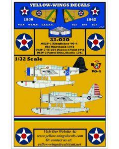 32-020 USN Vought OS2U-1/2 Kingfisher USS Maryland, Quonset Point, Sitka Alaska