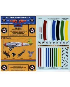 48-009 USN SB2U-1/2 Vindicator Chevrons & Fuselage Bands