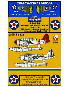 48-044 USN OS2U Kingfisher, VO-1 USS Arizona BB-39, Inshore Patrol Squadron, Sitka Alaska