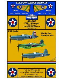 "48-060 Vought USN, USMC & Royal Navy F4U-1 ""Birdcage"" Corsair"